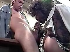 Pregnant secretary sucks hard dick