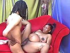 Preggy ebony girl fuck by black guy