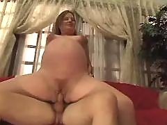 Perfect pregnant cutie going horny