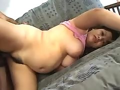 Saucy pregnant having fun in bed